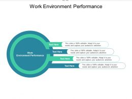 Work Environment Performance Ppt Powerpoint Presentation Infographics Graphic Tips Cpb