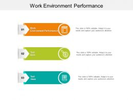 Work Environment Performance Ppt Powerpoint Presentation Visual Aids Infographics Cpb