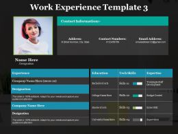 Work Experience Contact Information Ppt Powerpoint Presentation Gallery Designs Download