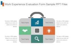 Work Experience Evaluation Form Sample Ppt Files