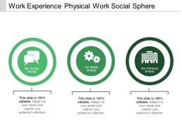 Work Experience Physical Work Social Sphere