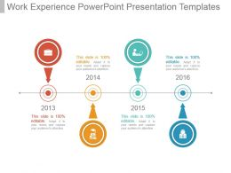 Work Experience Powerpoint Presentation Templates
