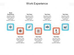 Work Experience Ppt Powerpoint Presentation Styles Deck Cpb