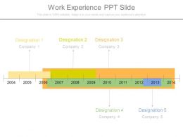 Work Experience Ppt Slide