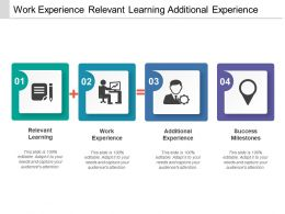 Work Experience Relevant Learning Additional Experience