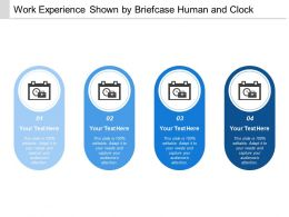 Work Experience Shown By Briefcase Human And Clock