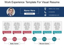 Work Experience Template For Visual Resume Powerpoint Ideas