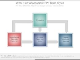 Work Flow Assessment Ppt Slide Styles