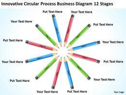 Work Flow Business Process Diagram Circular 12 Stages Powerpoint Templates