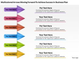 Work Flow Business Process Diagram Forward To Achieve Success Plan Powerpoint Slides