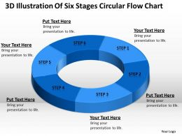 Work Flow Business Process Diagram Illustration Of Six Stages Circular Chart Powerpoint Slides