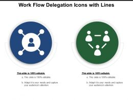 Work Flow Delegation Icons With Lines