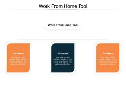 Work From Home Tool Ppt Powerpoint Presentation Show Deck Cpb