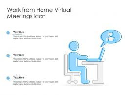 Work From Home Virtual Meetings Icon
