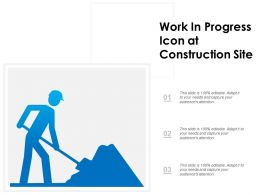 Work In Progress Icon At Construction Site
