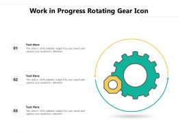 Work In Progress Rotating Gear Icon