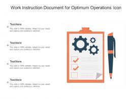 Work Instruction Document For Optimum Operations Icon