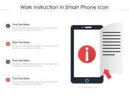 Work Instruction In Smart Phone Icon