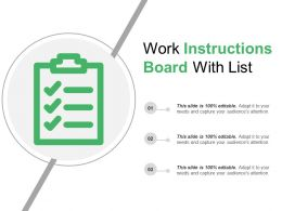 Work Instructions Board With List