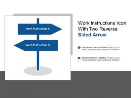 Work Instructions Icon With Two Reverse Sided Arrow