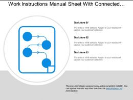 Work Instructions Manual Sheet With Connected Circles