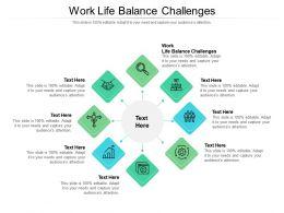 Work Life Balance Challenges Ppt Powerpoint Presentation Portfolio Grid Cpb