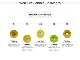 Work Life Balance Challenges Ppt Powerpoint Presentation Slides Styles Cpb