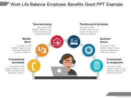 Work Life Balance Employee Benefits Good Ppt Example