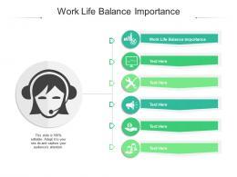 Work Life Balance Importance Ppt Powerpoint Presentation Model Mockup Cpb