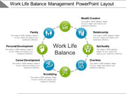 Work Life Balance Management Powerpoint Layout