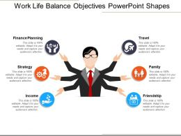 Work Life Balance Objectives Powerpoint Shapes