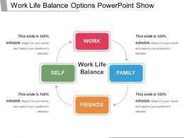 Work Life Balance Options Powerpoint Show