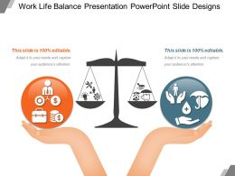Work Life Balance Presentation Powerpoint Slide Designs
