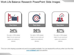 Work Life Balance Research Powerpoint Slide Images