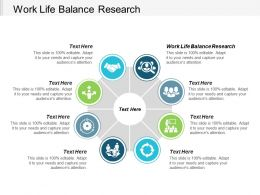 Work Life Balance Research Ppt Powerpoint Presentation Ideas Graphics Cpb