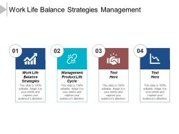 Work Life Balance Strategies Management Product Life Cycle Cpb