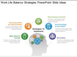 Work Life Balance Strategies Powerpoint Slide Ideas