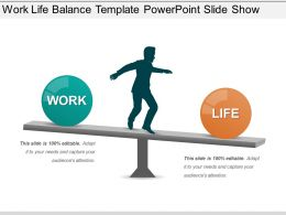 Work Life Balance Template Powerpoint Slide Show