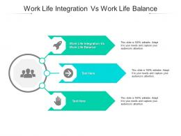 Work Life Integration Vs Work Life Balance Ppt Powerpoint Presentation Slides Cpb