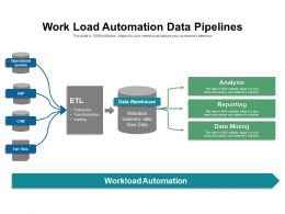 Work Load Automation Data Pipelines