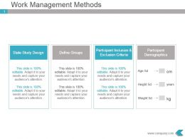 Work Management Methods Powerpoint Ppt Visual
