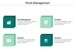 Work Management Ppt Powerpoint Presentation Summary Diagrams Cpb