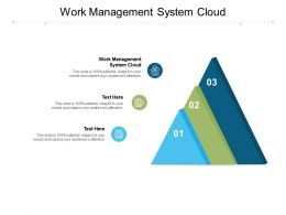 Work Management System Cloud Ppt Powerpoint Presentation Gallery Demonstration Cpb