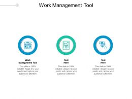 Work Management Tool Ppt Powerpoint Presentation Show Templates Cpb