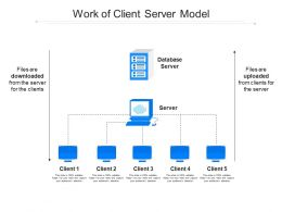 Work Of Client Server Model