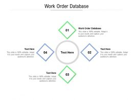 Work Order Database Ppt Powerpoint Presentation Visual Aids Pictures Cpb