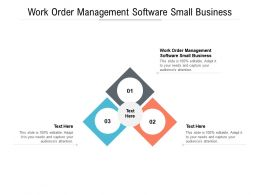 Work Order Management Software Small Business Ppt Powerpoint Presentation File Example Introduction Cpb