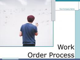 Work Order Process Business Growth According Financial Supervisor Budgeting