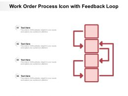 Work Order Process Icon With Feedback Loop