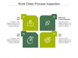 Work Order Process Inspection Ppt Powerpoint Presentation Show Ideas Cpb